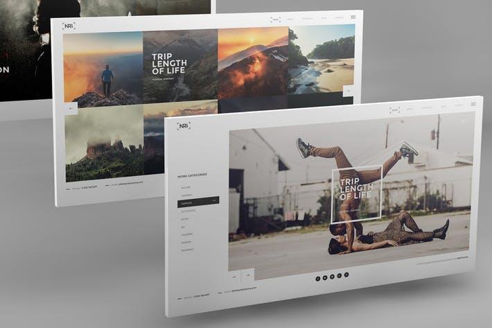 3D Desktop Screen Mockups