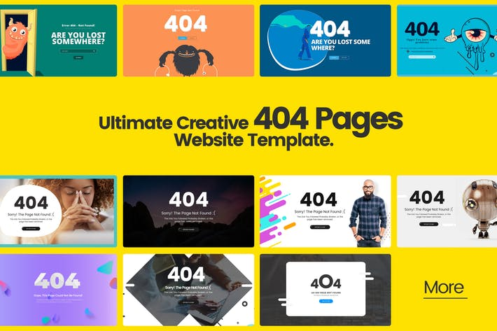 Ultimate Creative 404 Pages Website Template