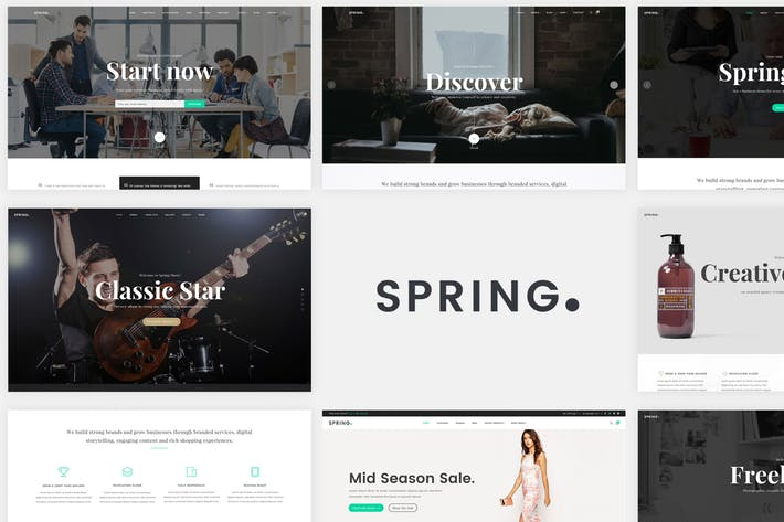 Spring - Multipurpose Website Templates