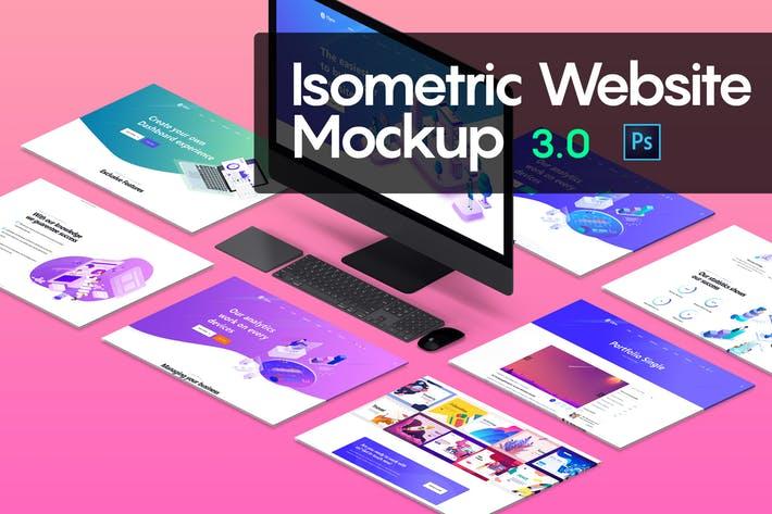 Isometric Website Mockup 3.0