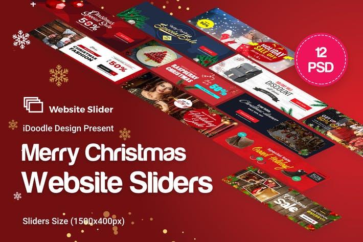 Holiday Sale, Christmas Website Sliders