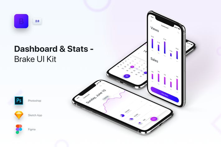 Brake UI Kit 2.0 - Dashboard & Statistics