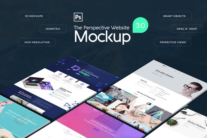 The Pespective Website Mockup 3.0