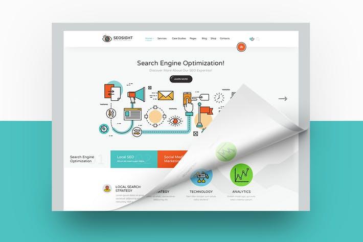 Seosight Website PSD Template