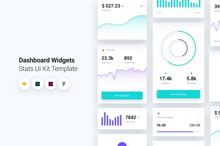 Dashboard Widgets UI Kit Template