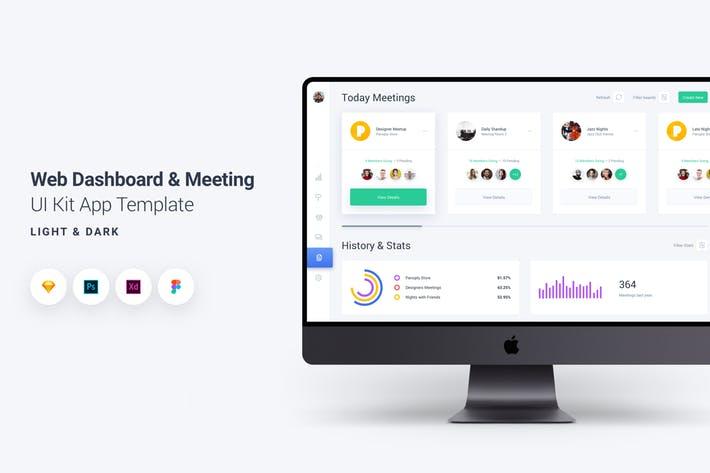 Web Dashboard & Meeting UI Kit App Template 8