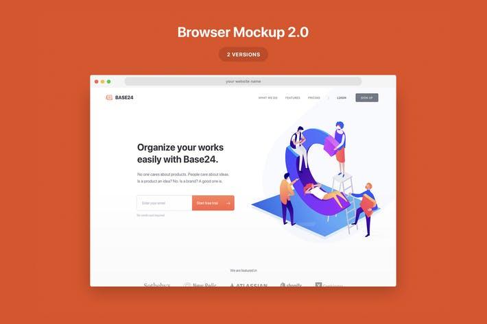 Website Browser Mockup 2.0
