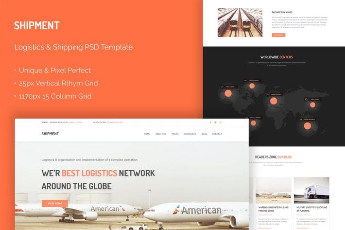 Shipment - Logistic & Shipping Website PSD