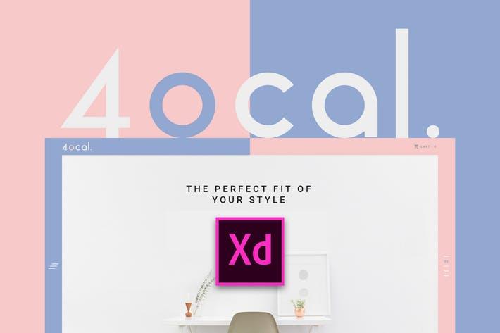 4ocal UI Kit for Adobe XD