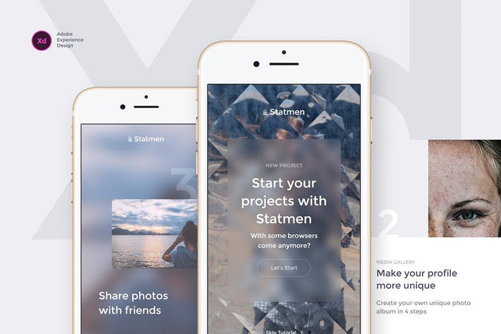 Statmen XD iOS Ui Kit - Walkthrough