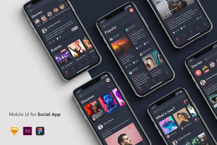 6 New Feed - Mobile UI for Social App