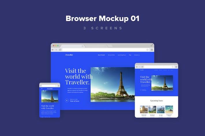 Website Browser Mockup 01