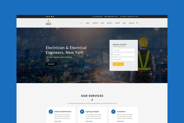 Electric Website PSD Template