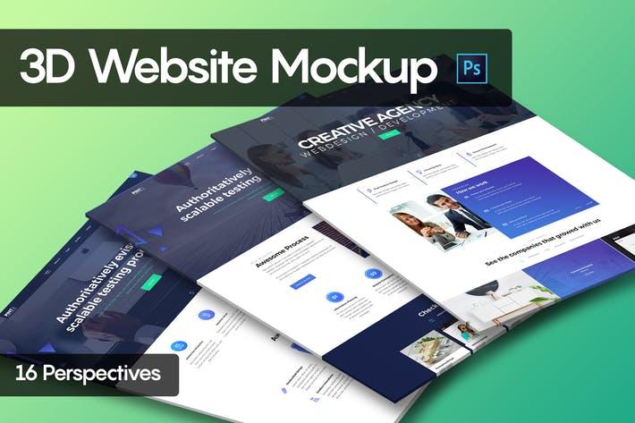3D Website Mockup
