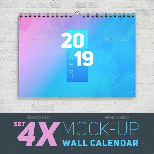 Wall Calendar Mockup Set