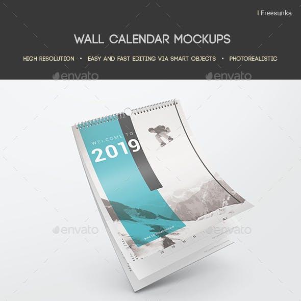 Wall Calendar Mockups