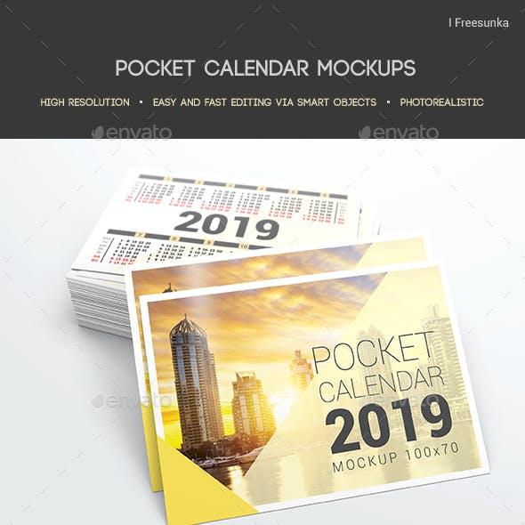 Pocket Calendar Mockups