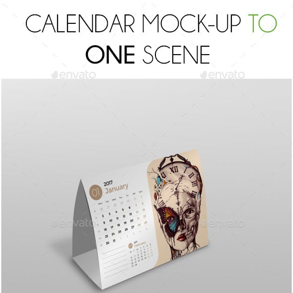 Calendar Mockup Scene