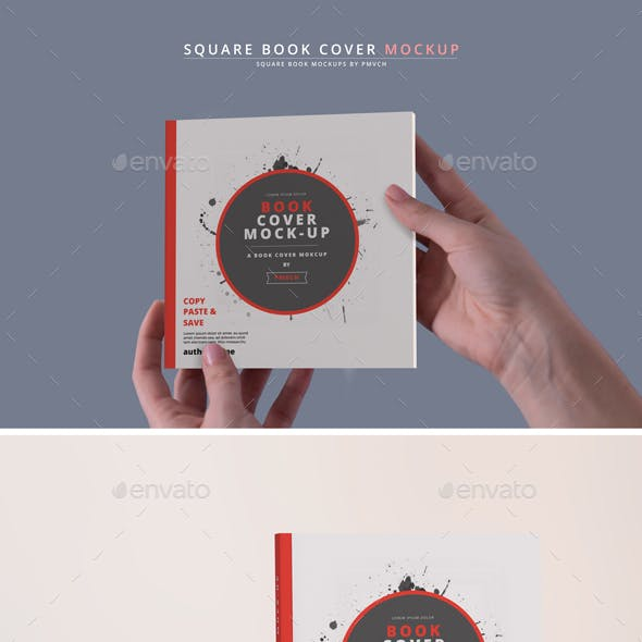 Softcover Book Mockups - Square