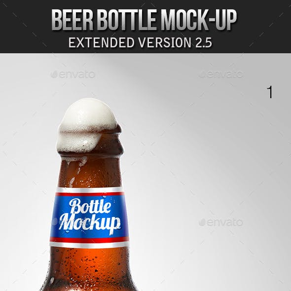 Beer Bottle Mockup V2.5