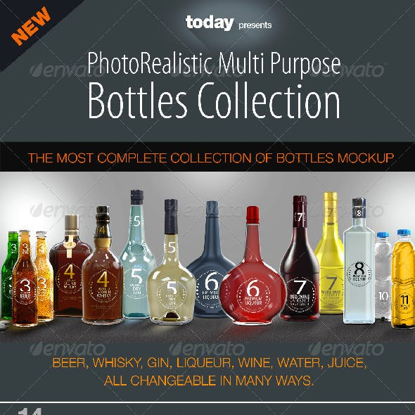 Bottles Mockup - Complete Collection