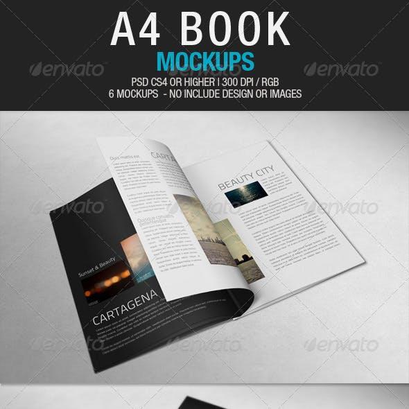 A4 Book Mockups
