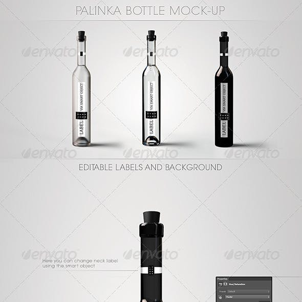 Palinka Bottle Mock-Up