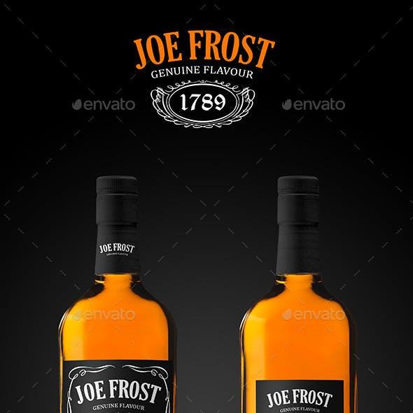 Premium Whiskey Bottle Mockup