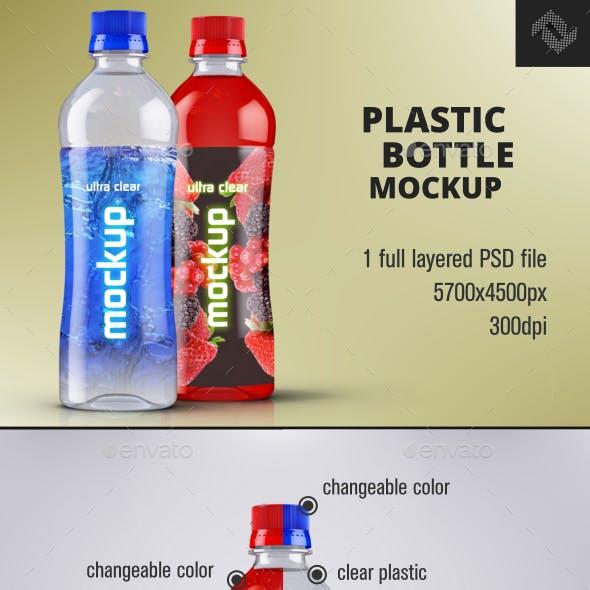Water Plastic Bottle Mockup