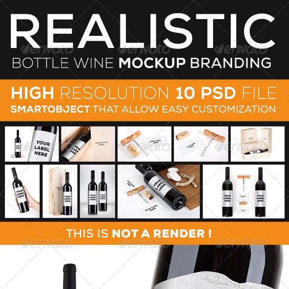 Wine Bottle Branding Mock Up