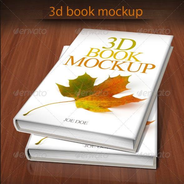 3D Book Mockup 01