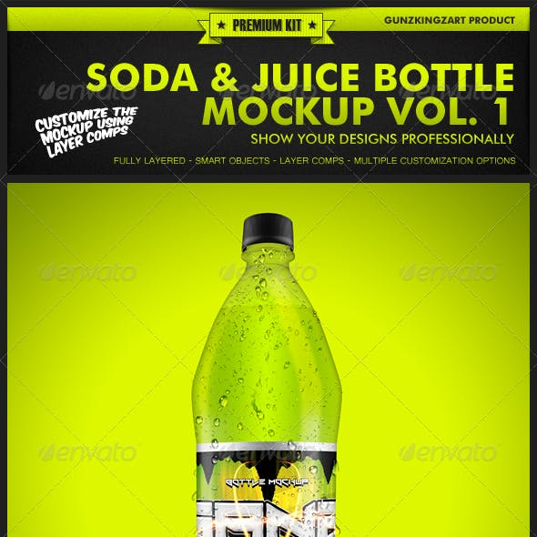Soda & Juice Bottle Mockup Vol. 1 - Premium Kit