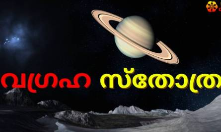 Navagraha Stotram/mantra lyrics in Malayalam with pdf and meaning