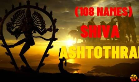 Shiva Ashtothram sata namawali lyrics in english with pdf and meaning