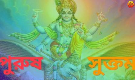 Purusha Suktam Stotram lyrics in Bengali with meaning, benefits, pdf and mp3 song