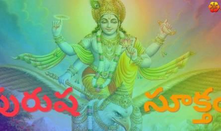 Purusha Suktam Stotram lyrics in telugu with meaning, benefits, pdf and mp3 song