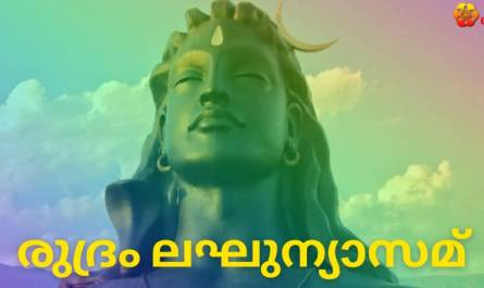 Sri Rudram Laghunyasam lyrics in Malayalam pdf with meaning, benefits and mp3 song.