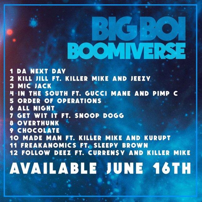 Big Boi Boomiverse Album Tracklist