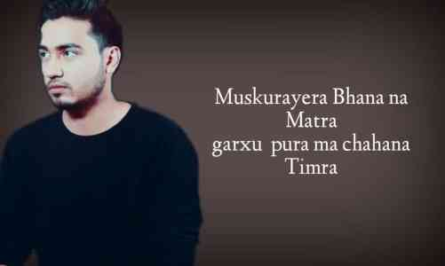 Sushant KC | muskurayera lyrics | new Nepali songs