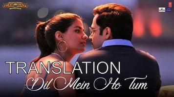 dil mein ho tum translation