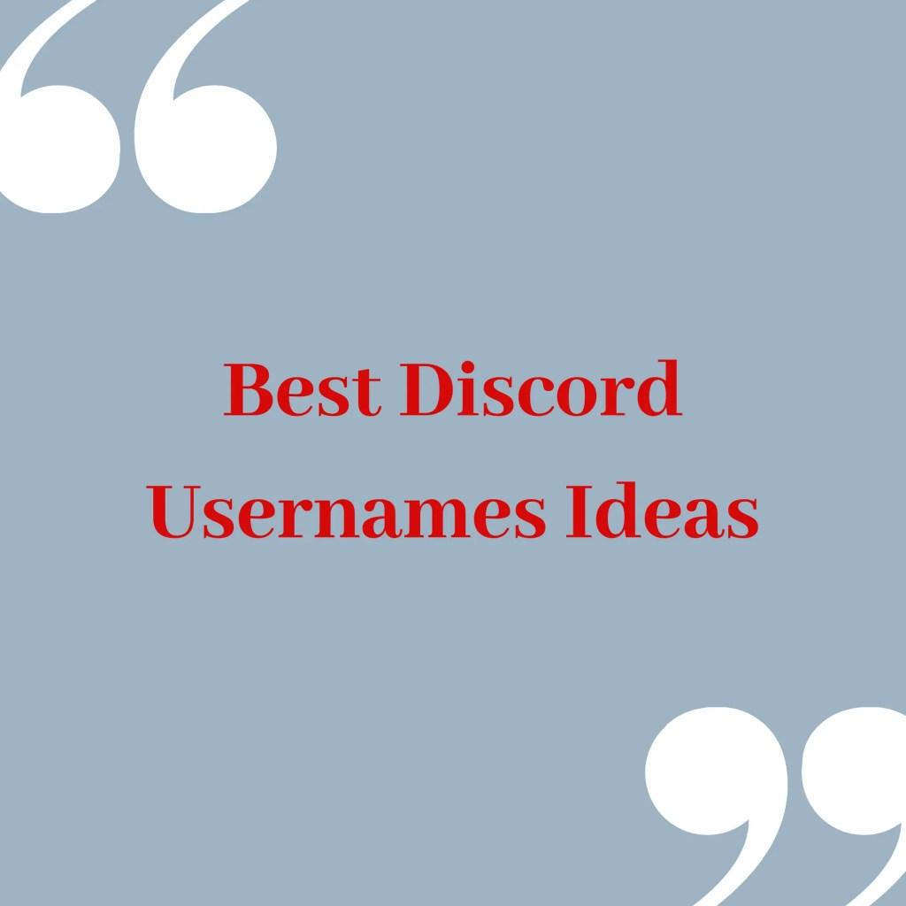 Discord usernames