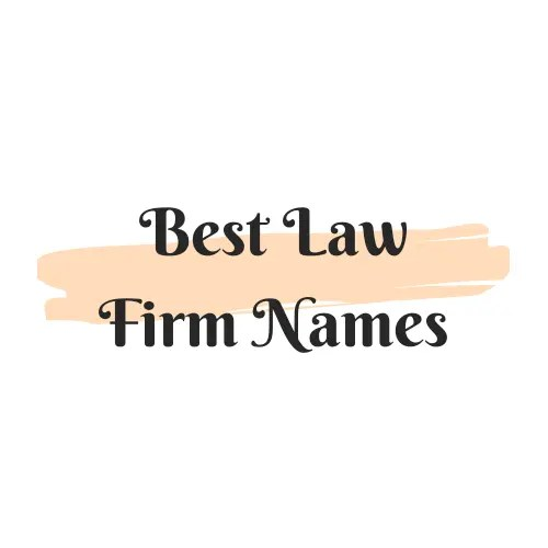 Best law firm names