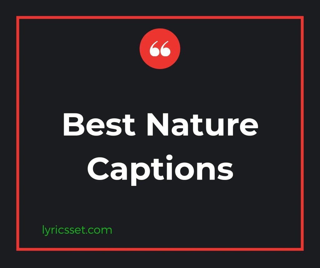 Best nature captions