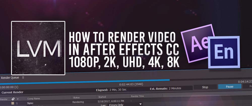 How to render export video in adobe after effects cc for After effects lyric video template