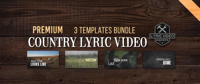 Lyric Video Maker - Download Templates Free   Professional
