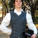 The Baron blue wool waistcoat