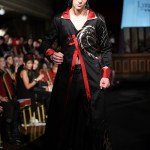 Black and red mens coat with dragons