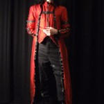 Red silk gothic coat and waistcoat