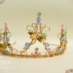 Dragonfly gold and crystal crown