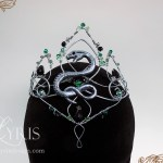 Silver green and black elven Slytherin snake crown crown
